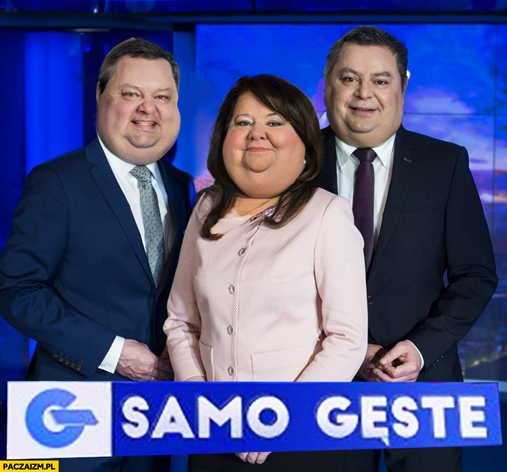 Wiadomości TVP samo gęste grubi ulani prezenterzy Adamczyk Ziemiec Holecka