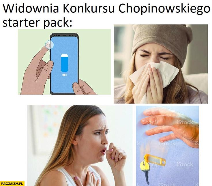 Widownia konkursu chopinowskiego starter pack hałasują