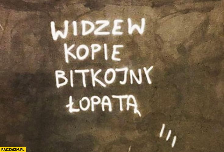 Widzew kopie bitkojny łopatą bitcoiny ŁKS Łódź