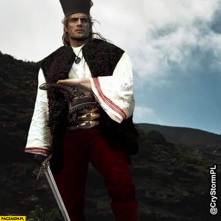 Wiedźmin Geralt Janosik przeróbka photoshop