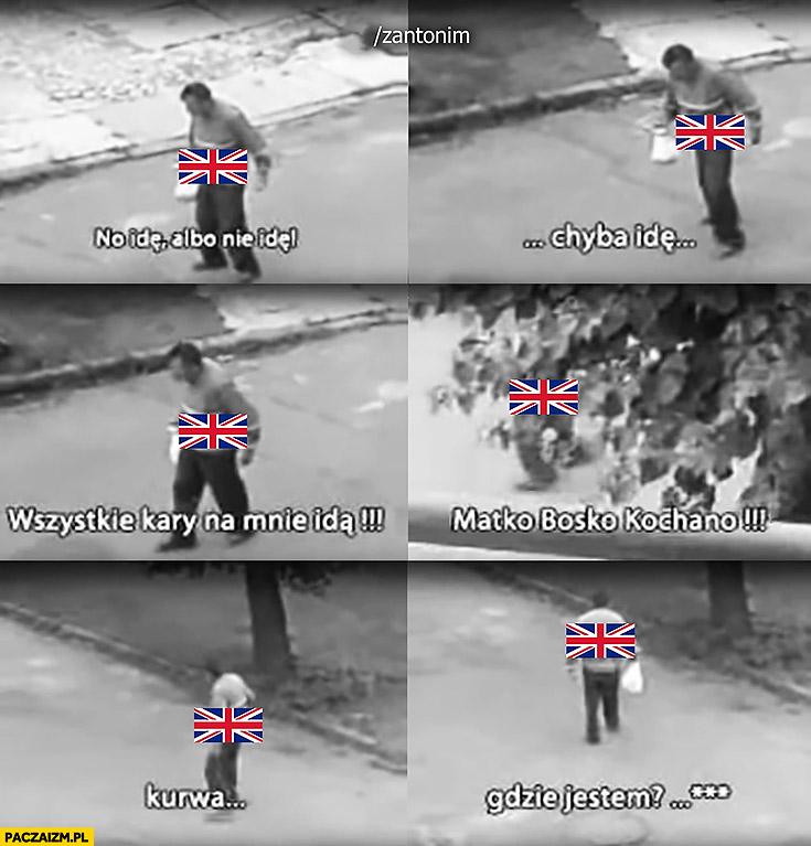 Wielka Brytania brexit idę albo nie idę pijak żul menel gdzie jestem?