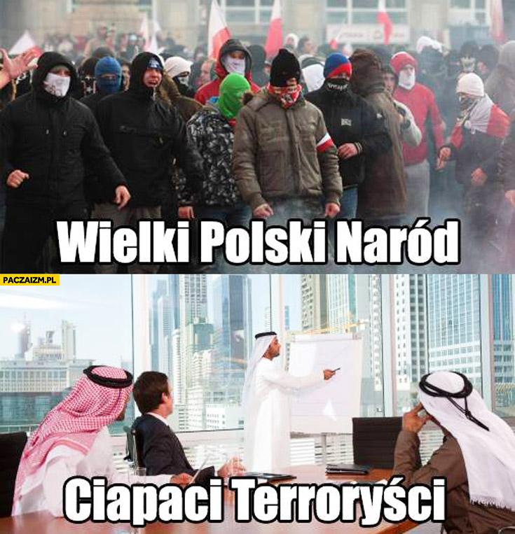 Wielki Polski Naród ciapaci terroryści