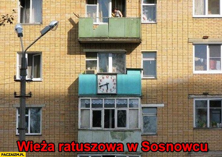 Wieża ratuszowa w Sosnowcu fail