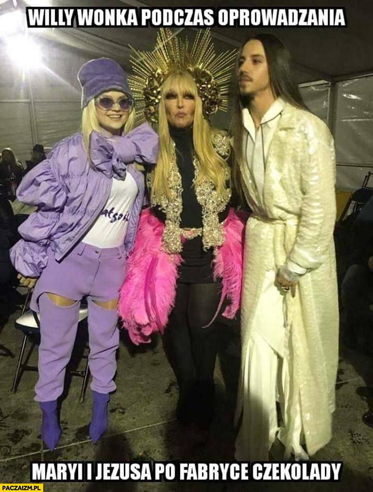 Willy Wonka podczas oprowadzania Maryi i Jezusa po fabryce czekolady Maryla Rodowicz Michał Szpak Margaret