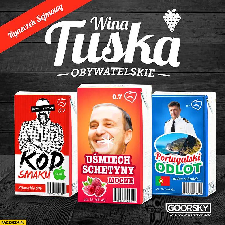 Wina Tuska KOD smaku, uśmiech Schetyny, portugalski odlot Kijowski Petru Goorsky