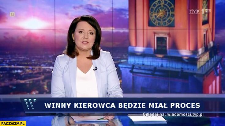 Winny kierowca będzie miał proces wypadek Szydło Wiadomości TVP