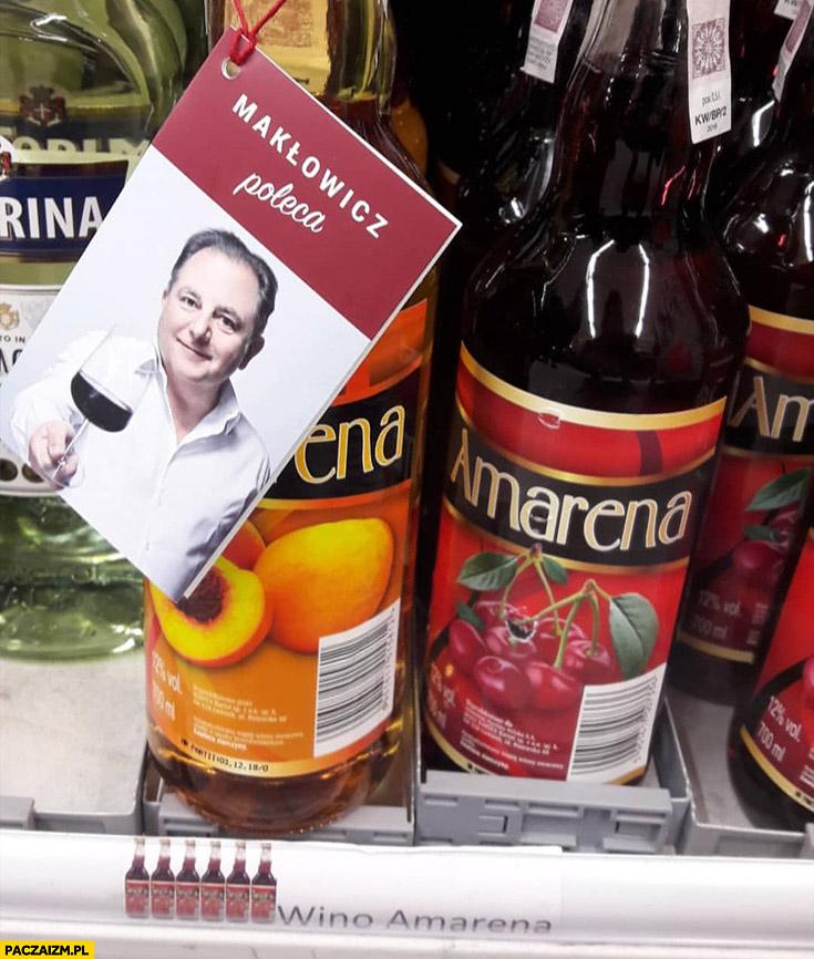 Wino Amarena Makłowicz poleca zawieszka na winie