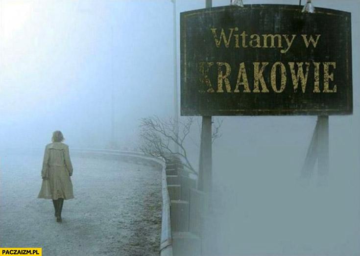 Witamy w Krakowie mgła smog nic nie widać