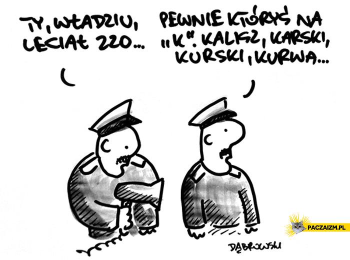 Władziu leciał 220 Kalisz Karski Kurski