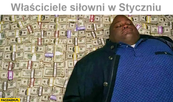 Właściciele siłowni w Styczniu śpią na kasie