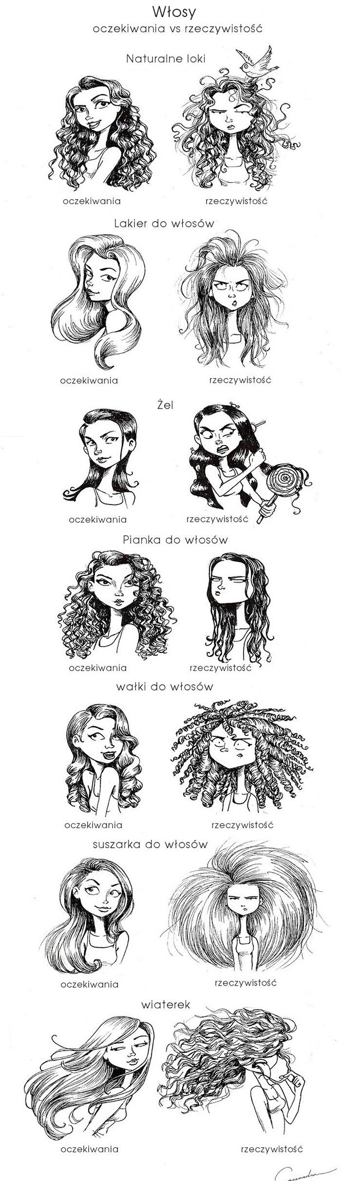 Włosy oczekiwania vs rzeczywistość