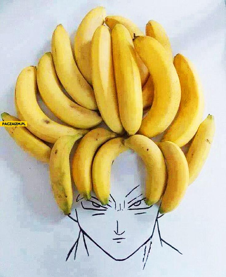 Włosy Son Goku z bananów
