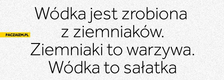 Wódka jest zrobiona z ziemniaków wódka to sałatka