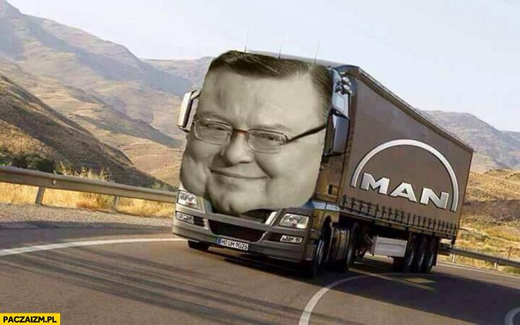 Wojciech Mann ciężarówka MAN przeróbka