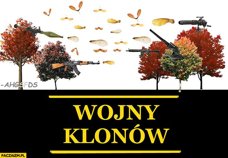 Wojny klonów drzewa klony strzelają do siebie ahgsfds