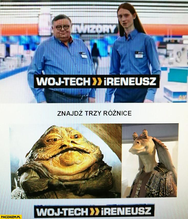 Woj-tech iReneusz jak Jabba i Jar-Jar Binks Wojciech Mann reklama Saturn Gwiezdne Wojny