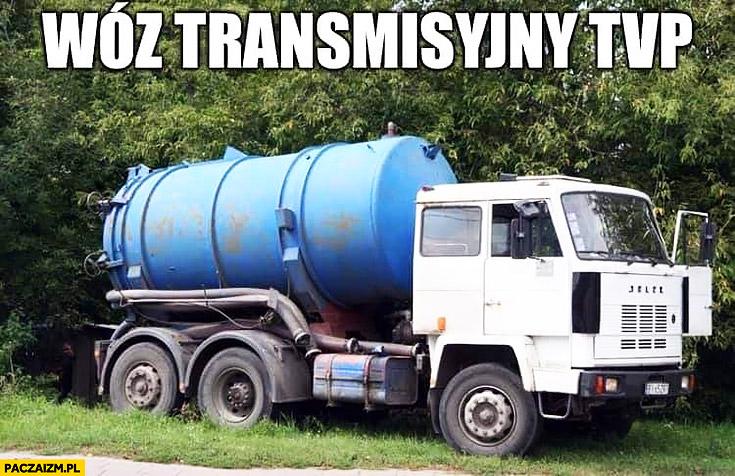 Wóz transmisyjny TVP szambiarka szambo
