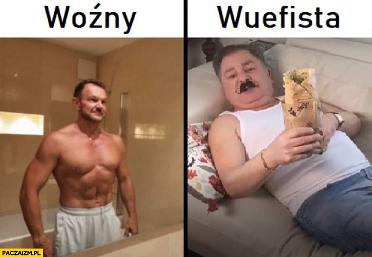 Woźny przypakowany Cezary Pazura, wuefista Makłowicz z kebabem