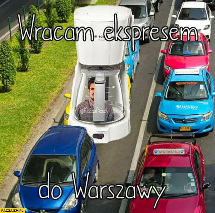 Wracam ekspresem do Warszawy Taco Hemingway ekspres do kawy