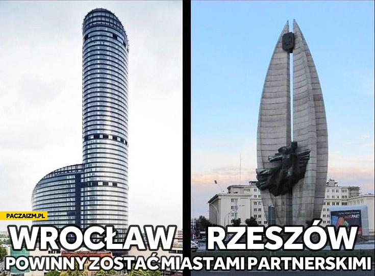 Wrocław i Rzeszów powinny zostać miastami partnerskimi