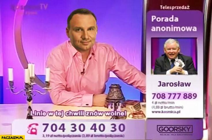 Wróżbita Maciej Andrzej Duda porada anonimowa Jarosław Kaczyński