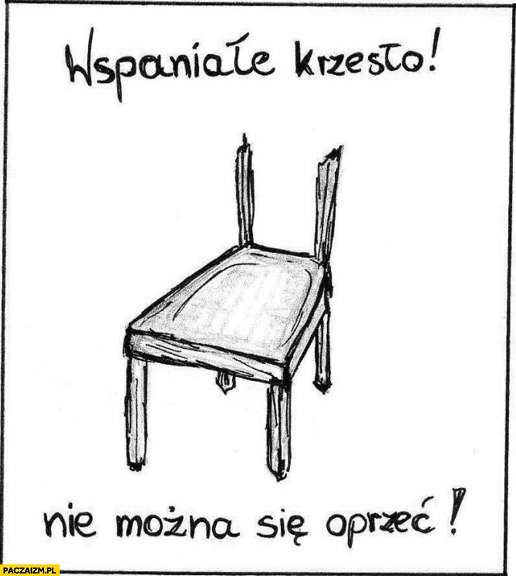 Wspaniałe krzesło nie można się oprzeć bez oparcia