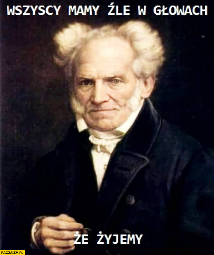 Wszyscy mamy źle w głowach, że żyjemy Schopenhauer