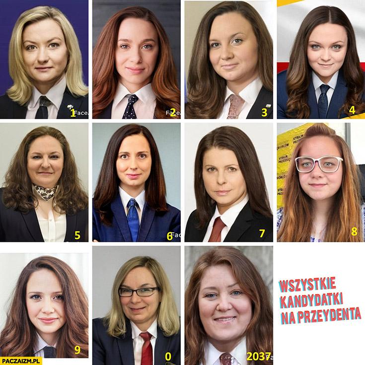 Wszystkie kandydatki na prezydenta kandydaci kobiety przeróbka