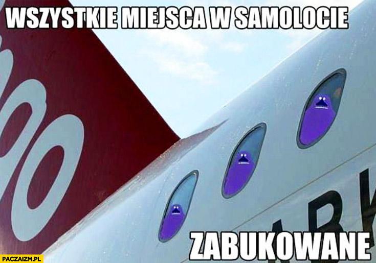 Wszystkie miejsca w samolocie zabukowane Buka