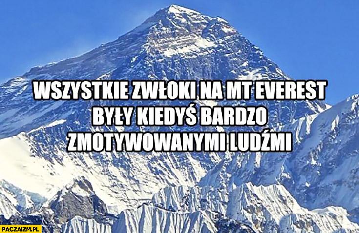 Wszystkie zwłoki na Mount Everest były kiedyś bardzo zmotywowanymi ludźmi