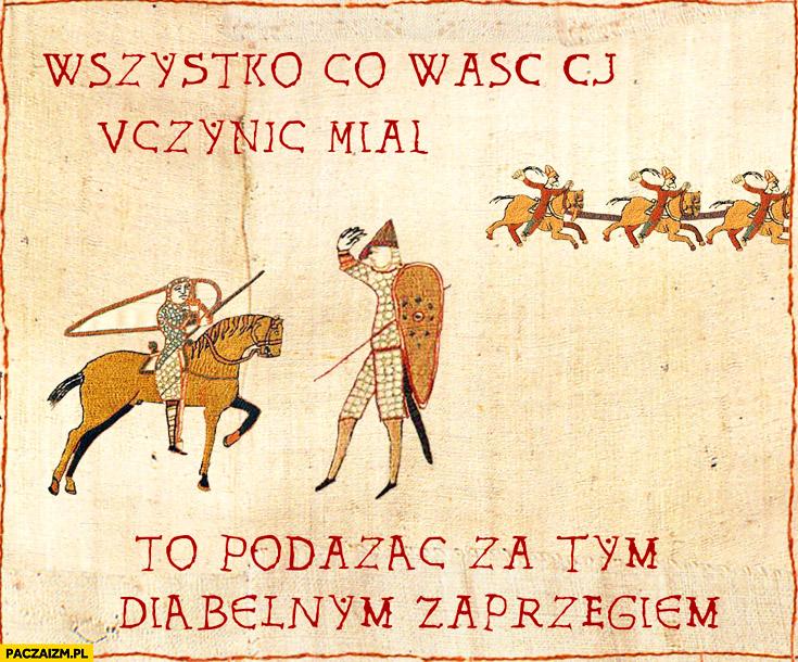 Wszystko co waść Ci uczynić miał to podążać za tym diabelnym zaprzęgiem GTA: CJ all you had to do średniowieczne
