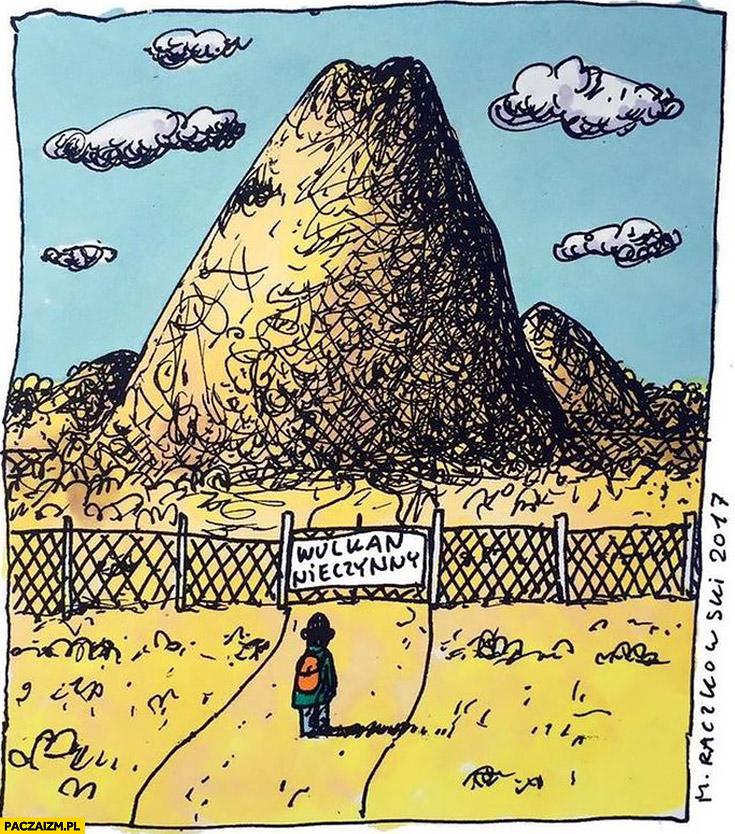 Wulkan nieczynny ogrodzenie zamknięty