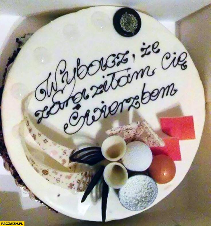 Wybacz, że zaraziłam Cię świerzbem tort torcik