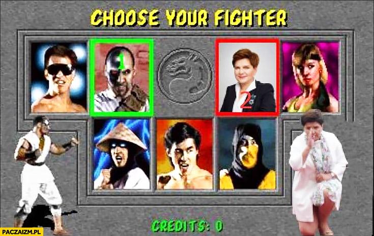 Wybierz swojego wojownika Mortal Kombat Beata Szydło