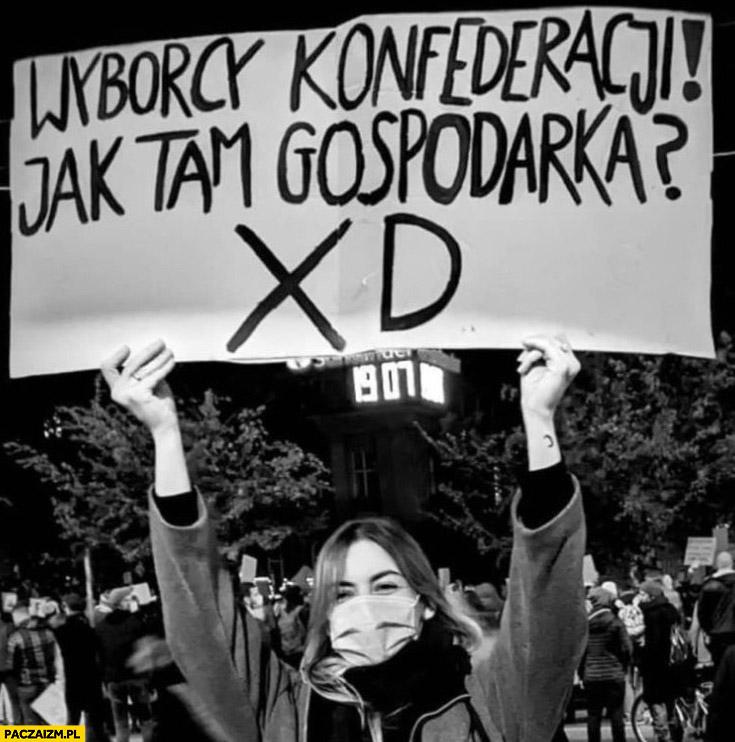 Wyborcy Konfederacji jak tam gospodarka xD transparent