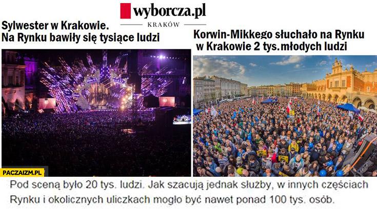 Wyborcza Korwina słuchało na rynku w Krakowie 2 tys. ludzi manipulacja
