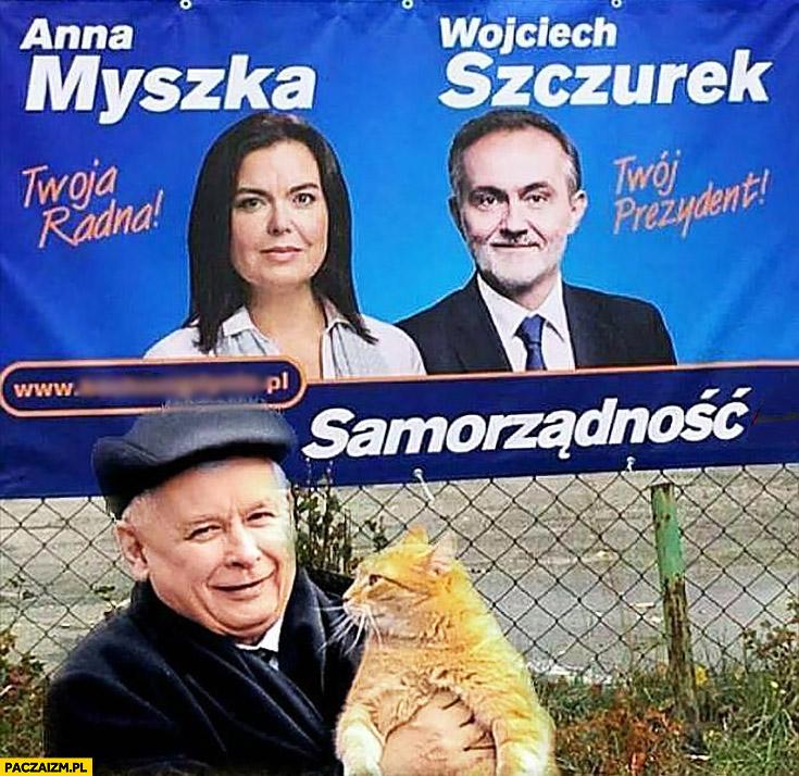 Wybory nazwiska kandydatów Anna Myszka Wojciech Szczurek Kaczyński przyjechał z kotem