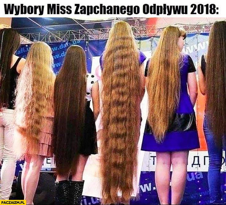 Wybory miss zapchanego odpływu 2018 dziewczyny z długimi włosami