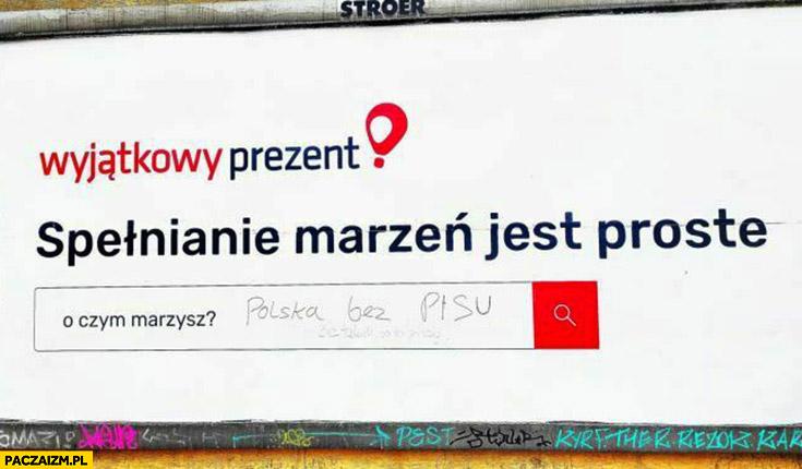 Wyjątkowy prezent: o czym marzysz? Polska bez PiSu
