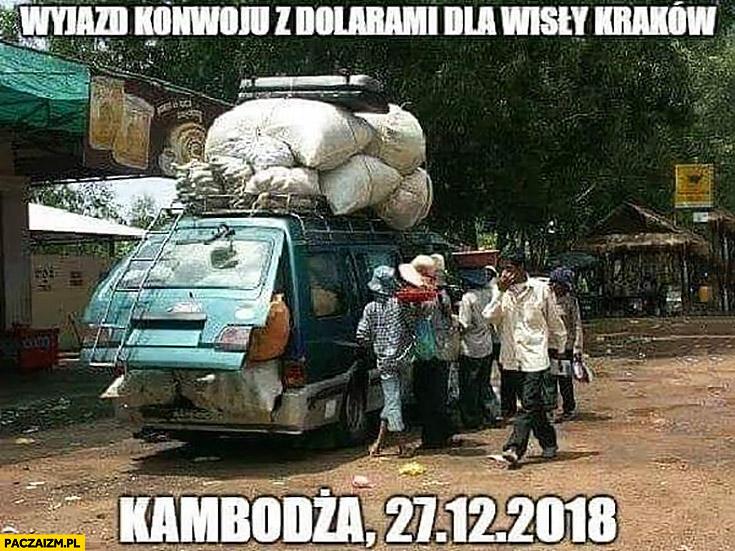Wyjazd konwoju z dolarami dla Wisły Kraków, Kambodża