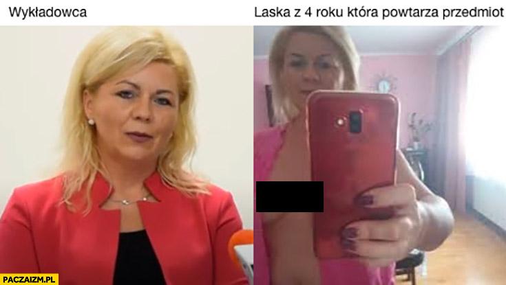 Wykładowca vs laską z 4 roku która powtarza przedmiot Ewa Szarzyńska