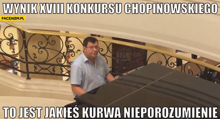 Wyniki konkursu Chopinowskiego to jest jakieś nieporozumienie Zbigniew Stonoga przy fortepianie