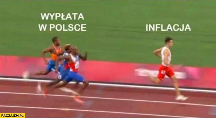 Wyplata w Polsce próbuje dogonić inflację sztafeta olimpiada