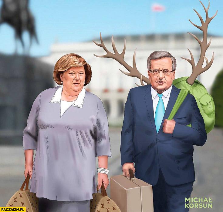 Wyprowadzka z Pałacu Prezydenckiego Bronek Komorowski