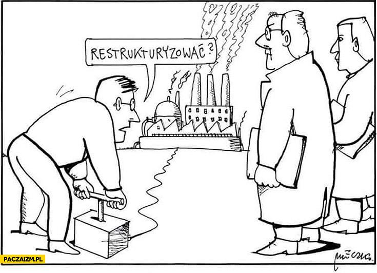 Wysadzić fabrykę restrukturyzować mleczko