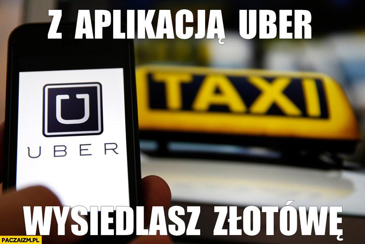 Z aplikacją Uber wysiedlasz złotówę