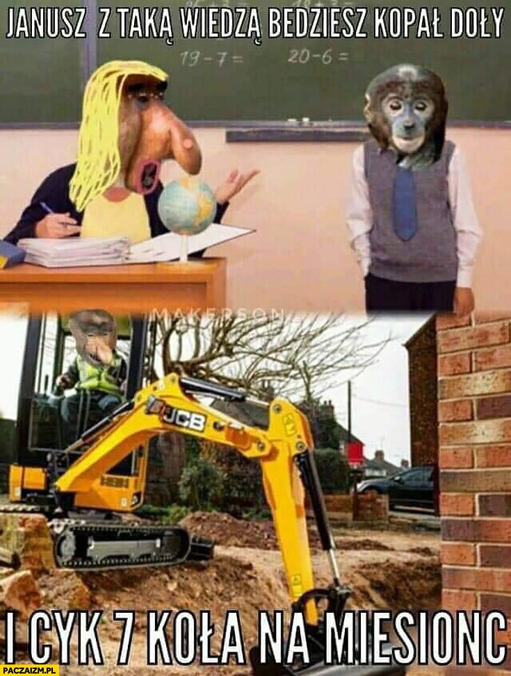 Z taką wiedza będziesz kopał doły i cyk 7 koła na miesiąc typowy Polak nosacz małpa