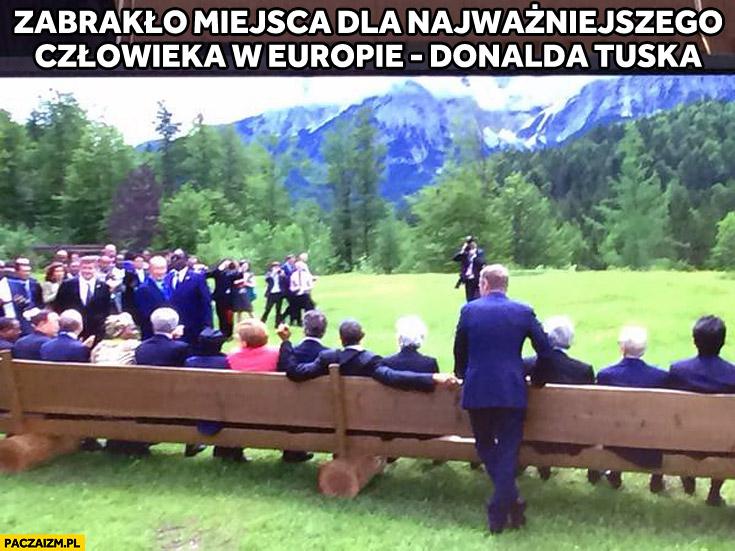 Zabrakło miejsca na ławce dla Donalda Tuska najważniejszego człowieka w Europie