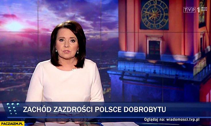 Zachód zazdrości Polsce dobrobytu pasek Wiadomości TVP