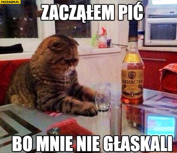 Zacząłem pić bo mnie nie głaskali kot